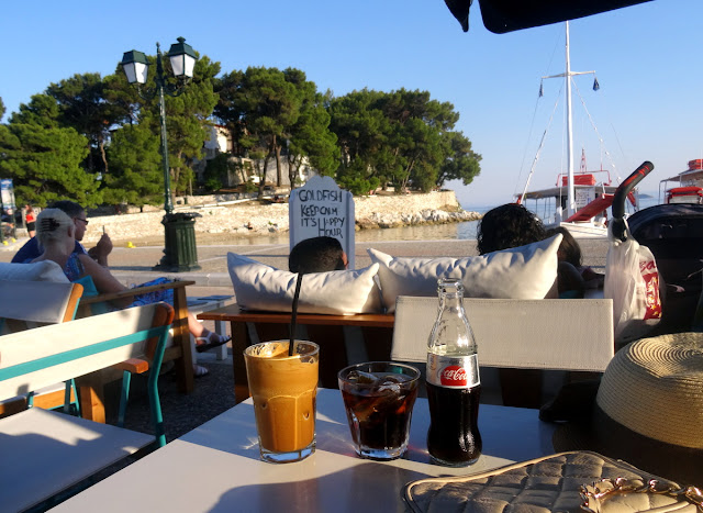At the Gold Fish Cafe Bar in Skiathos