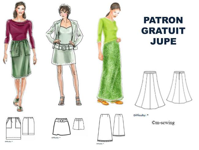 2968bdd1a00fa2 les 50 plus beaux patron gratuit pour se faire une jupe Bettinael ...