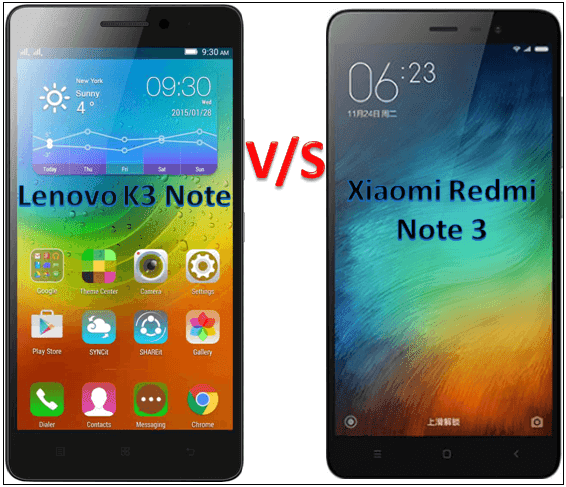 Xiaomi Redmi Note 3 Vs Lenovo K3 Note