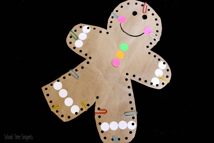 gingerbread man lacing craft