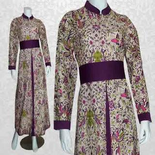 gambar baju gamis batik untuk orang gemuk