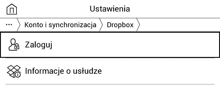 Dropbox w PocketBook Basic Lux 2