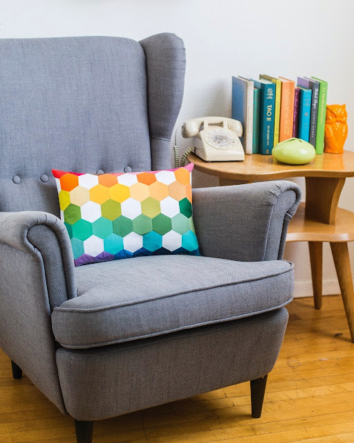 Dotty Hexagon Pillow from Sew Organized for the Busy Girl by Heidi Staples