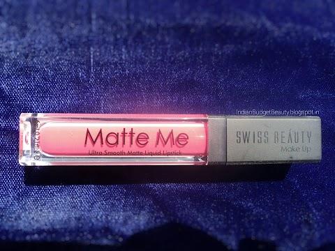 Swiss Beauty MATTE ME Ultra Smooth Matte Liquid Lipstick (S-17 Petal) REVIEW