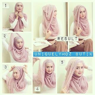 Tata Cara Memakai Hijab Segi Empat Pesta