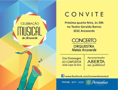 Orquestra Metais de Arcoverde realiza concerto em homenagem a Josias Lima