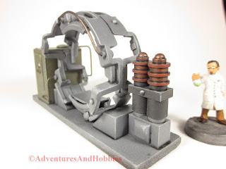 Trans Time Portal experimental 25-28mm scale lab device - view of the charging coils.