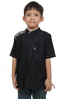 Baju muslim anak laki-laki modern