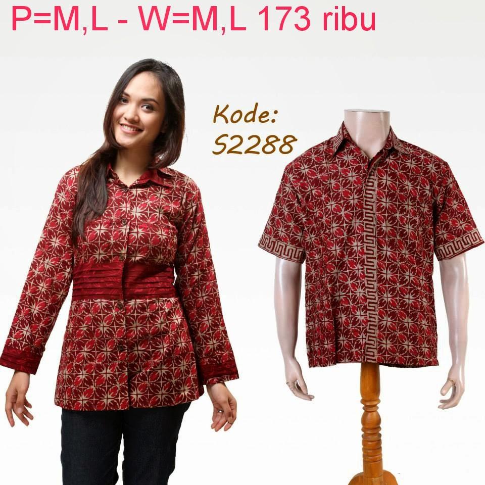 Contoh Gambar Baju Batik Modern: Baju Batik Modern Couple Model Masa Kini