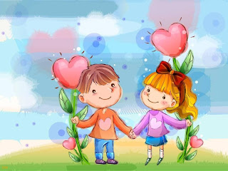 Gambar pasangan kartun jatuh cinta