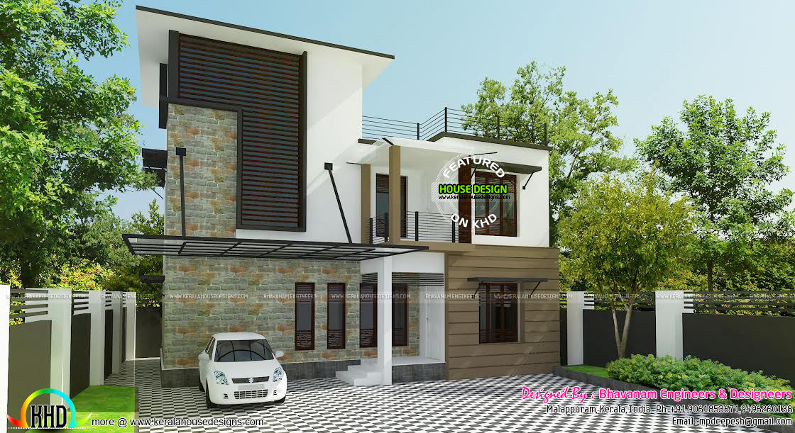 Contemporary Home Designs At Malappuram Part - 45: Contemporary Home
