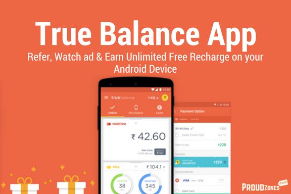 Truebalance refer watch ad earn recharge