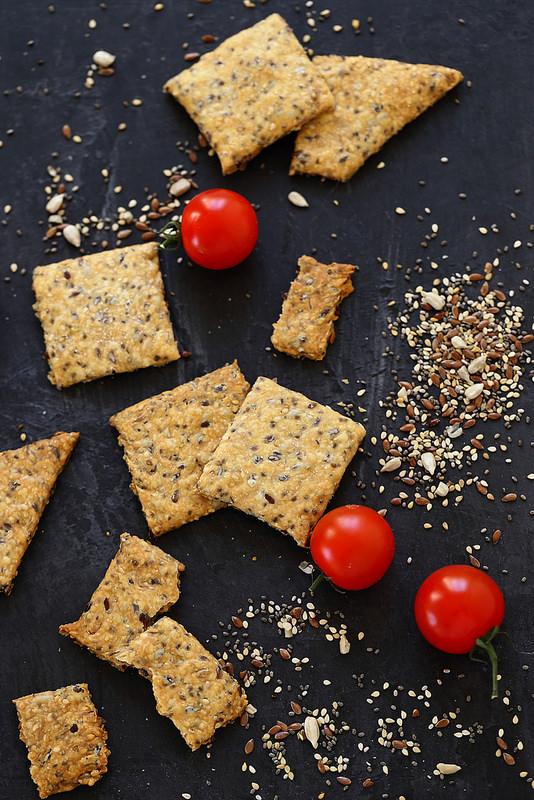 Crackers aux graines (vegan)