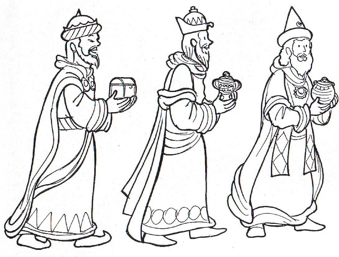 Dibujos Para Colorear De Los Tres Reyes Magos: Dibujos Infantiles, Imagenes Cristianas