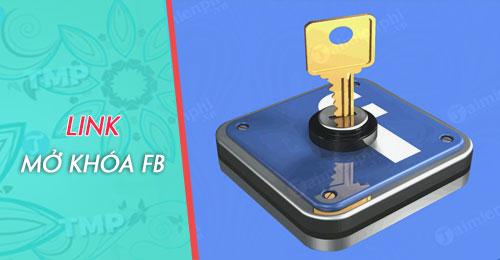 Link mở khóa tài khoản Facebook bị vô hiệu hóa, Disable, gửi ID