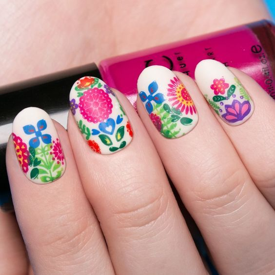 Soft Color Flowers Image-2