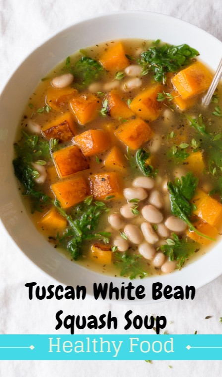 Tuscan White Bean Squash Soup