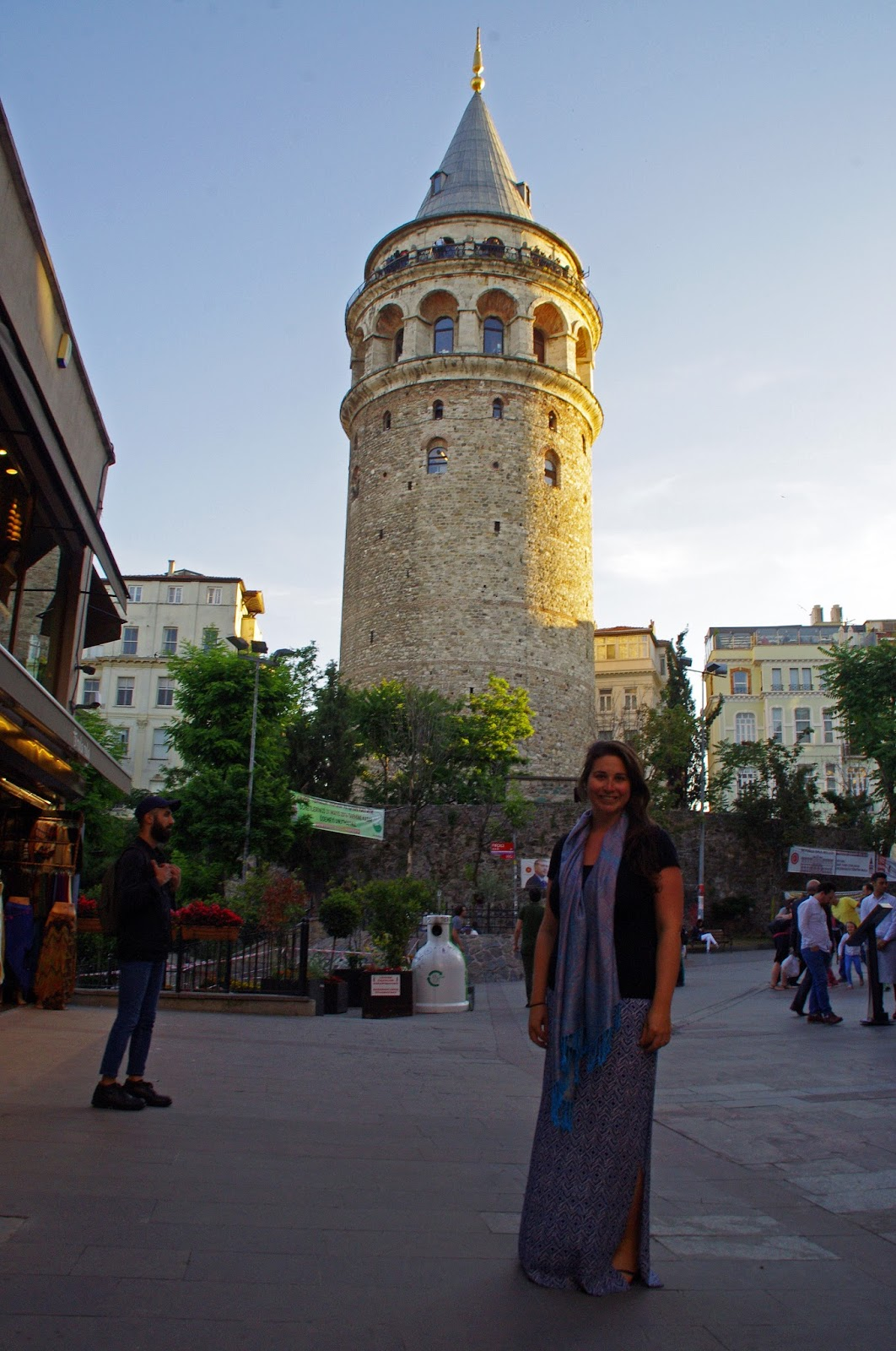 Girl at Galata Tower Istanbul