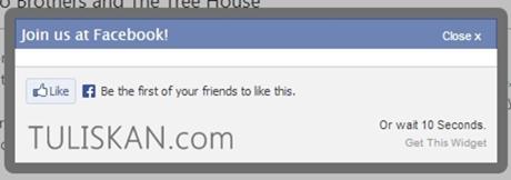 Membuat Like Box Facebook Melayang/Popup dengan Timer