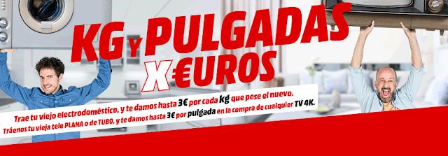 Mejores TVs promoción Pulgadas por Euros de Media Markt