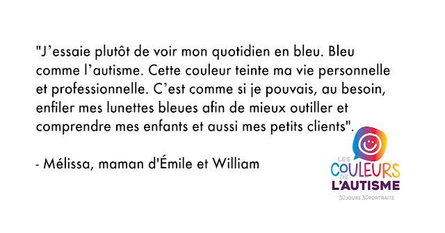 Autisme, les couleurs d'Élime et William #30couleurs