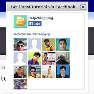 Facebook Popup Like Box In Blogspot Blog v2