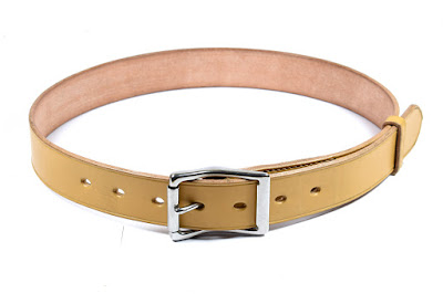 1.25 inch leather belt for men with hypoallergenic stainless steel buckle made to measure and hand stitched