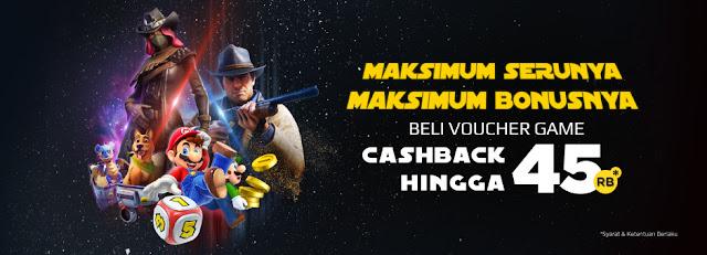 Tokopedia - Promo Beli Voucher Game Cashback s.d 45 Ribu (Jumat - Minggu)