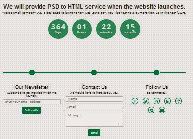 Responsive Coming Soon Html Template For All Your Start Needs