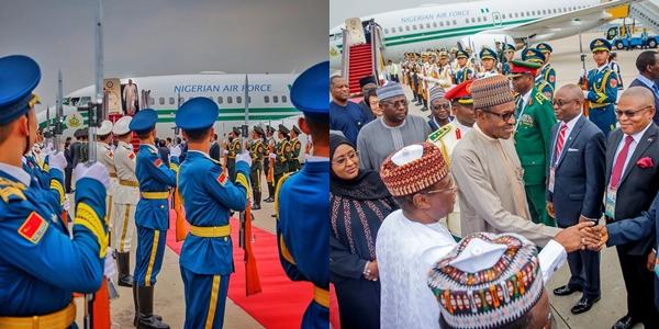 President Buhari arrives Beijing, China