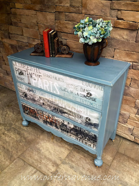 Tres Belle dresser makeover from On Fern Avenue