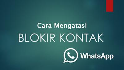 Cara Mengatasi WhatsApp yang di Blokir