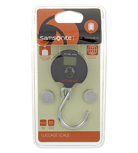 Samsonite travel luggage weighing scale