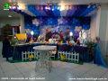 Tema Frozen uma aventura congelante - decoração de festa de aniversário infantil - mesa temática decorada com Frozen