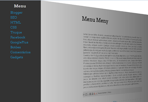 menu transforma blog em 3D