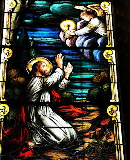 Vitral da Catedral de Santa Maria (RS) - Prece de Jesus