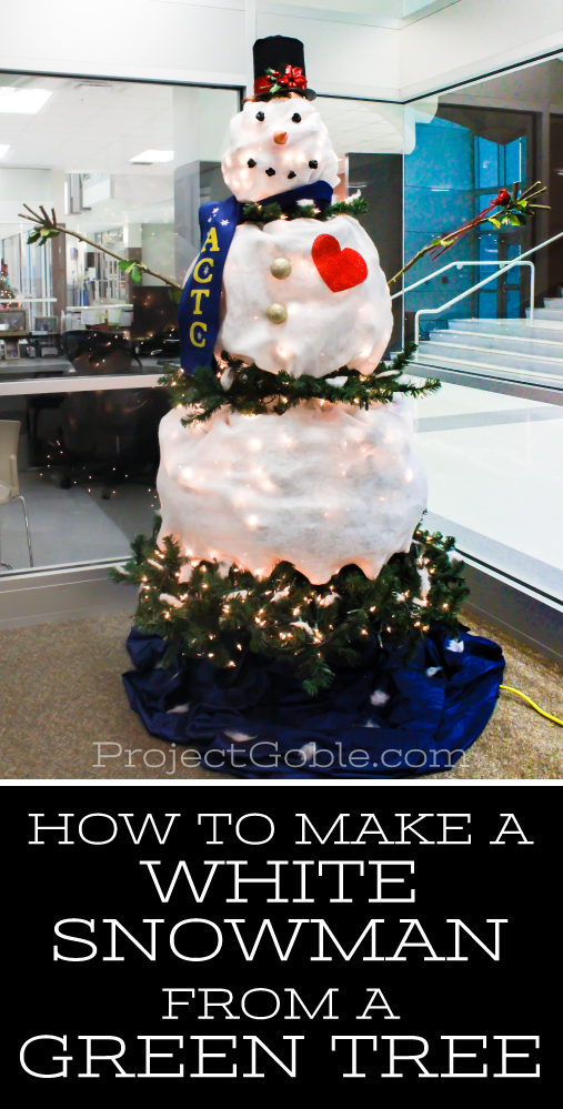 how to make a snowman christmas tree feature of the day