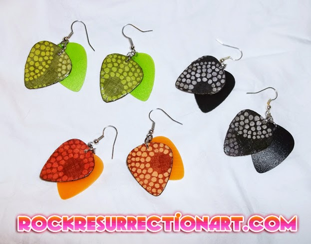 Scales Guitar Pick Earrings