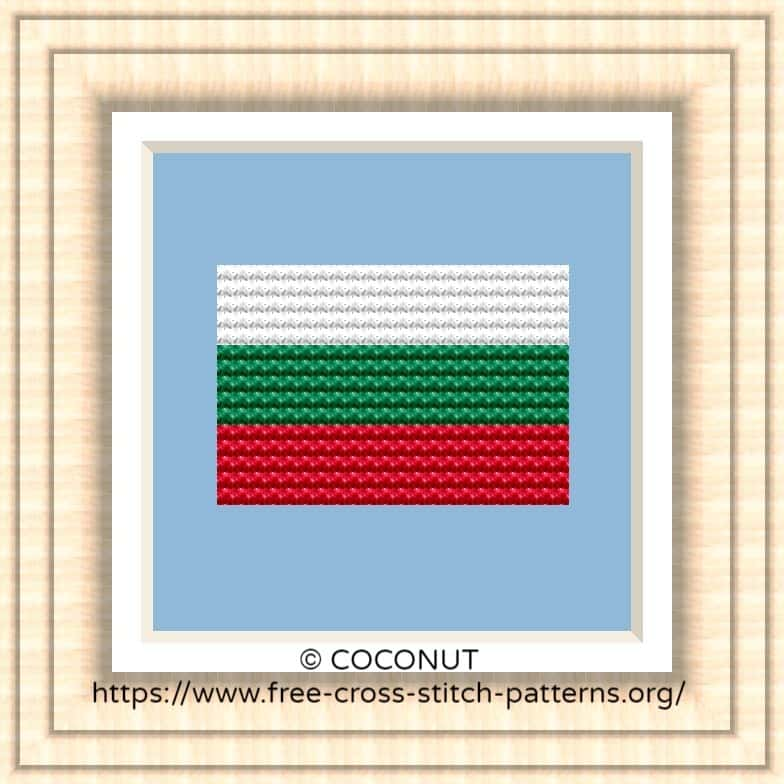 NATIONAL FLAG OF BULGARIA CROSS STITCH CHART