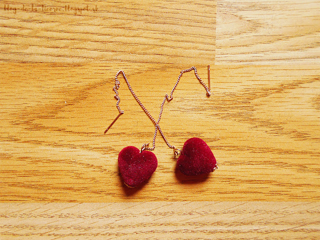 Velvet Heart Chain Earrings