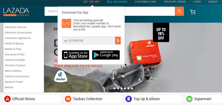 Cara Muat Turun Lazada App