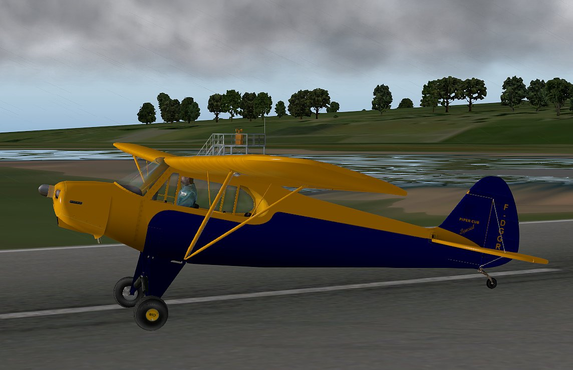 Urban's X-Plane experience: Piper PA-11 Cub Special