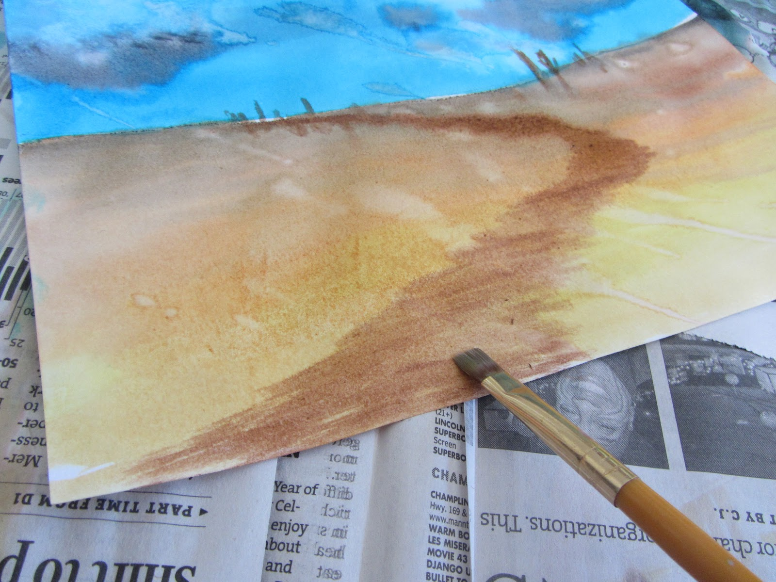 The Unlikely Homeschool Art Lesson Easy Watercolor Landscape Tutorial