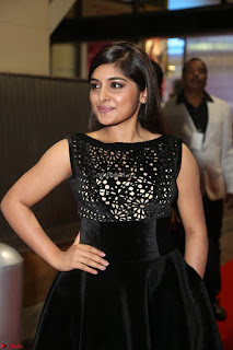 Niveda Thomas Black Sleeveless Cute Dress at 64th Jio Filmfare Awards South 2017 ~  Exclusive 089.JPG