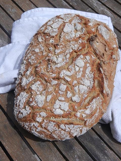 Pain sans pétrissage, Seigle, Riz et Maïs - Faible en gluten