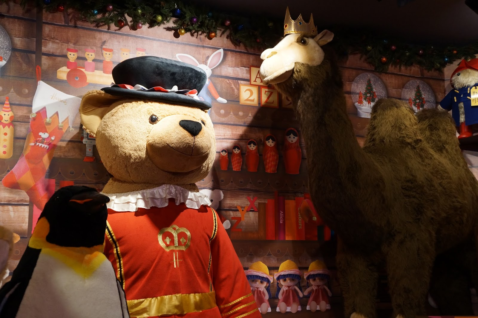 harrods christmas grotto 2015 big harrods teddy bear