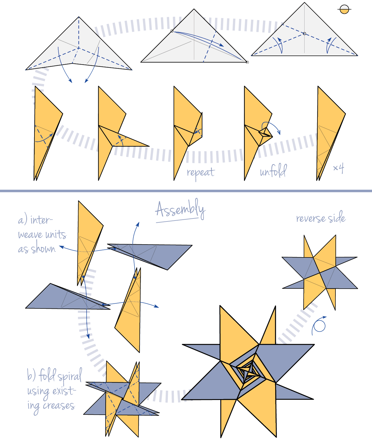 Origami Star Instructions ~ easy paper craft for kids - photo#45