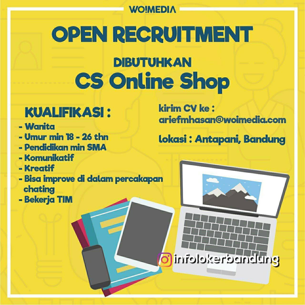 Lowongan Kerja CS Online Shop Antapani Bandung November 2018