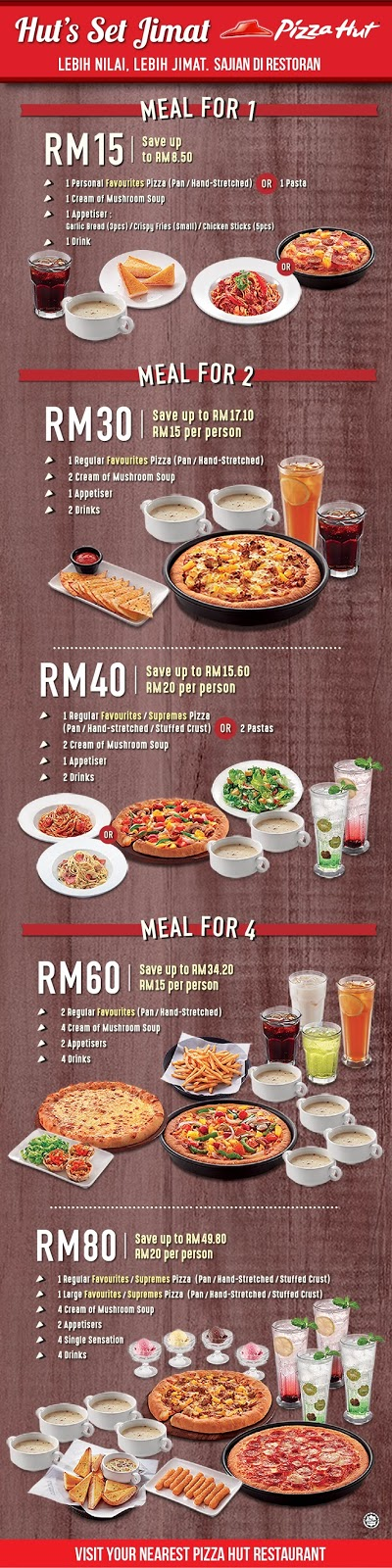 Pizza Hut's Set Jimat Meal Combo Discount Deal Promo