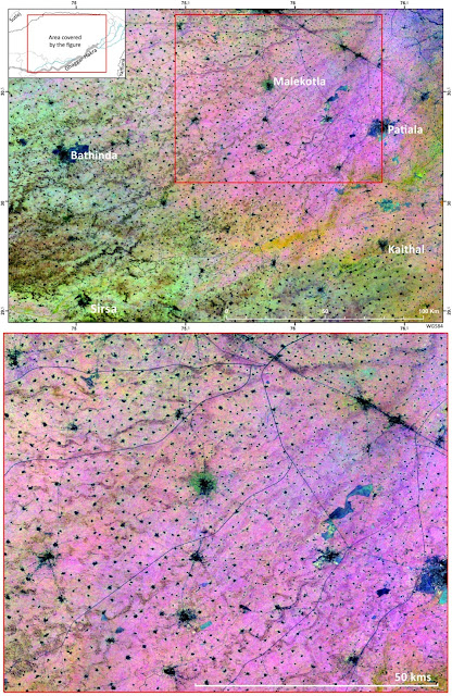 Micro to macro mapping: Observing past landscapes via remote-sensing
